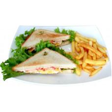 Сэндвич клаб с ветчиной и сыром